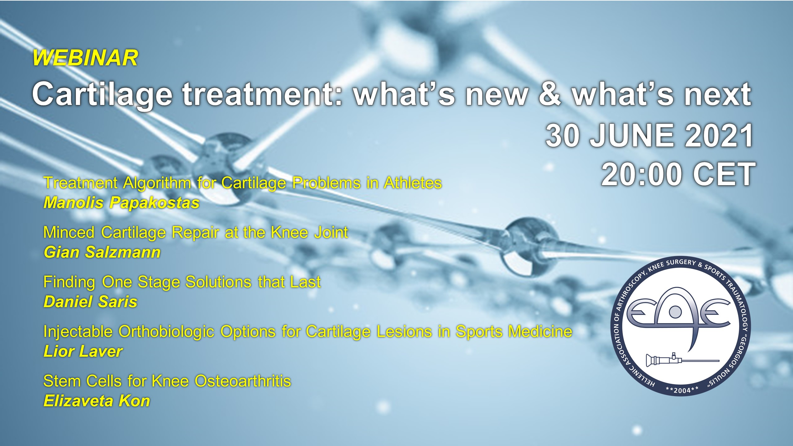 Cartilage treatment: what's new and what's next